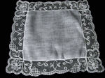 vintage wedding hankie limerick lace