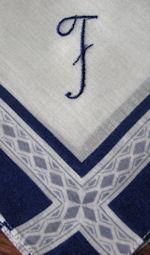 vintage monogrammed F hanky