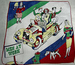 vintage designer TEV teenagers in car hanky