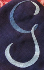 vintage monogrammed G hanky