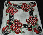 vintage floral print hanky ribbons and roses
