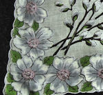 vintage floral print hanky pussy willows