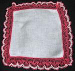 vintage irish linen hanky with deep handmade lace