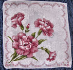 vintage floral print hanky carnations