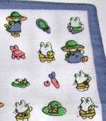 child's childrens mini-print-hankie
