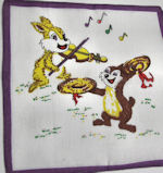childs childrens hanky chipmunk and bunny rabbit