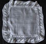antique wedding brides hanky french lace