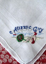 vintage novelty hanky souvenir Atlantic City