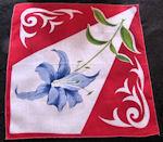 vintage art deco floral print hanky