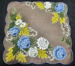 vintage Autumn floral print hanky