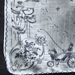 vintage novelty hanky horse-drawn coaches