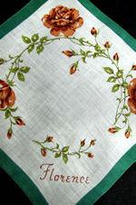 vintage floral print monogrammed Florence
