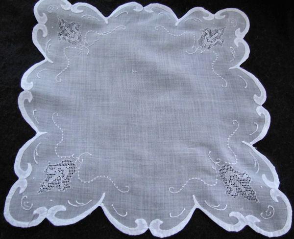vintage handmade whitework hanky