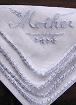 vintage irish linen hanky for Mother
