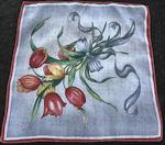 vintage floral print hanky tulips