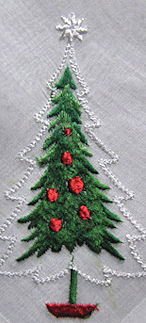 vintage christmas tree hanky