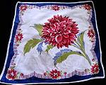 vintage floral print hanky peony