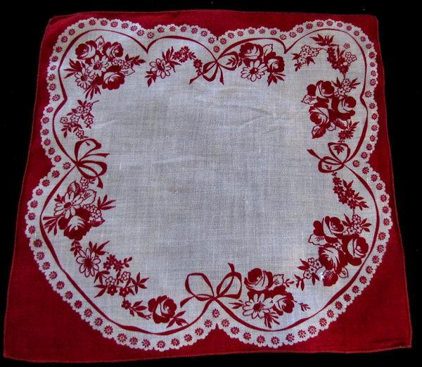 secret fold Valentine hanky