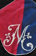 vintage monogrammed M hanky