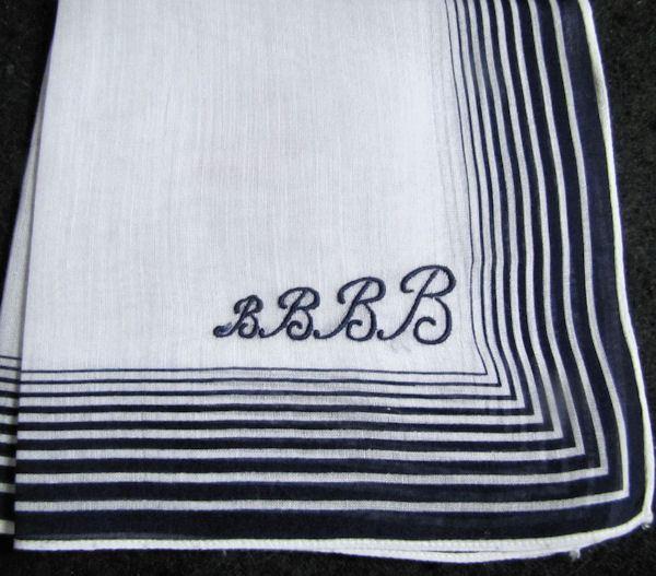 vintage monogrammed B hanky