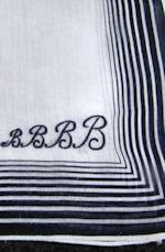 vintage hanky monogrammed B