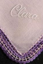 vintage monogrammed hanky for Clara