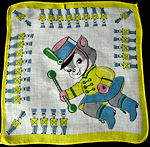 vintage child's hanky majorette kitten