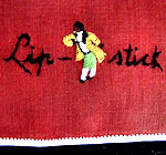 vintage hand embroidered lipstitk hanky