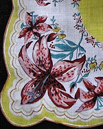 vintage floral print hanky tiger lilies