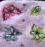 vintage Erin O'Dell butterflies hanky