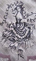 vintage designer dancing lady hanky