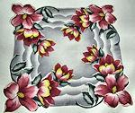 vintage floral print hanky custom-corners
