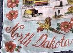 vintage North Dakota state map hanky