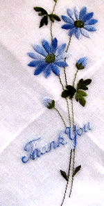 vintage thank you hanky