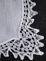 vintage antique wedding brides hanky handmade lace Ruth Brockenway