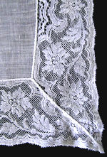 vintage antique wedding brides hanky French lace