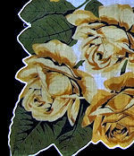 vintage yellow roses floral print hanky