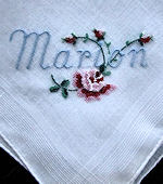 vintage hanky for Marion