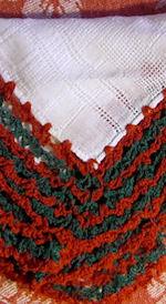 vintage Irish linen hanky handmade lace