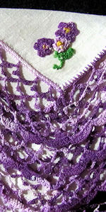 vintage irish linen hanky handmade lace and embroidery