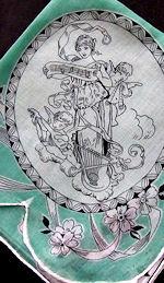 vintage designer musical hanky
