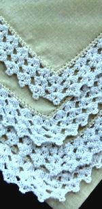 vintage yellow irish linen hanky handmade lace