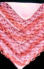 vintage peach irish lace hanky handmade lace