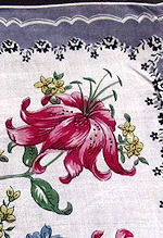 vintage tiger lily floral print hanky
