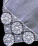 vintage antique wedding brides hanky Limerick lace
