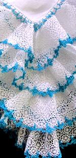 vintage irish linen hanky ruffled white and handmade lace