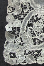 vintage antique wedding brides hanky deep handmade bobbin lace