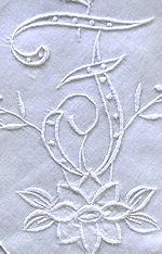 vintage white hanky monogrammed F