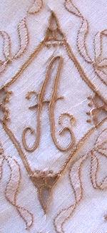 vintage handmade hanky monogrammed A