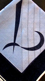 vintage monogrammed L hanky